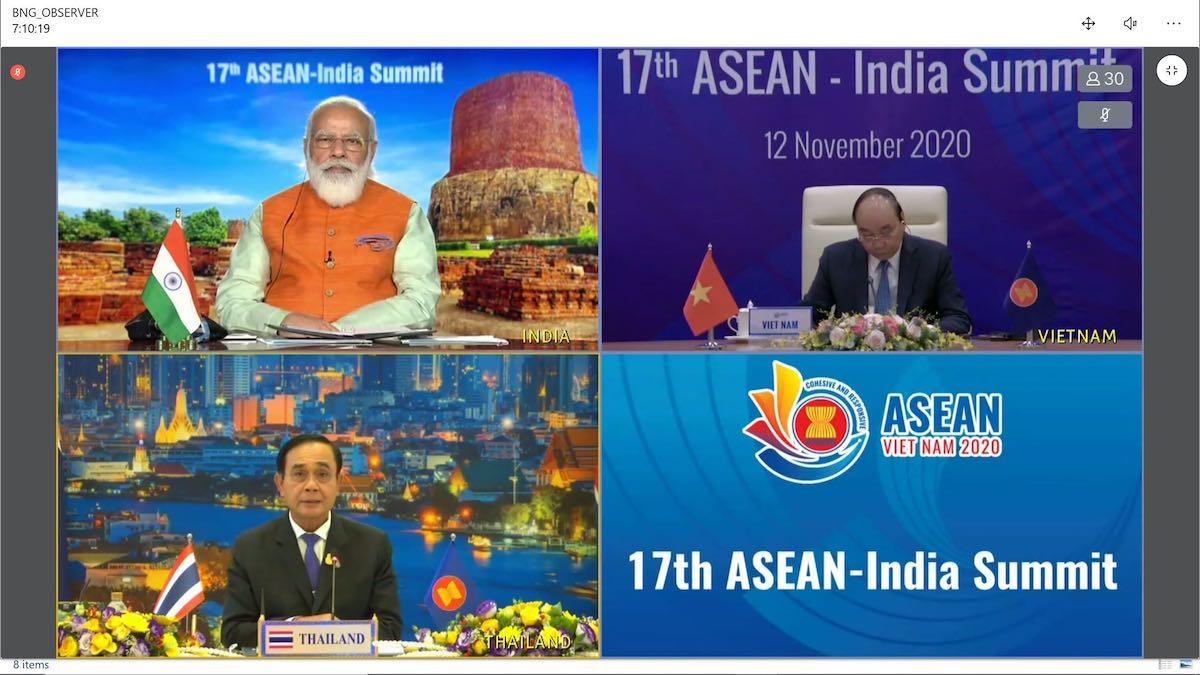 The virtual ASEAN-India Summit in November 2020
