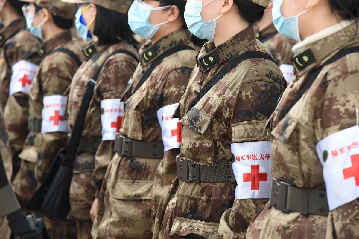 Military medics in Wuhan, China, February 2020
